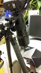 Kuvausjärjestely aseen yksityiskohtien esille saamiseen